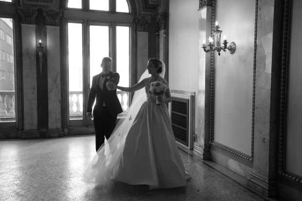 Jessica and Danny's Elegant Providence Public Library Wedding on The Newport Bride Rhode Island Wedding Blog
