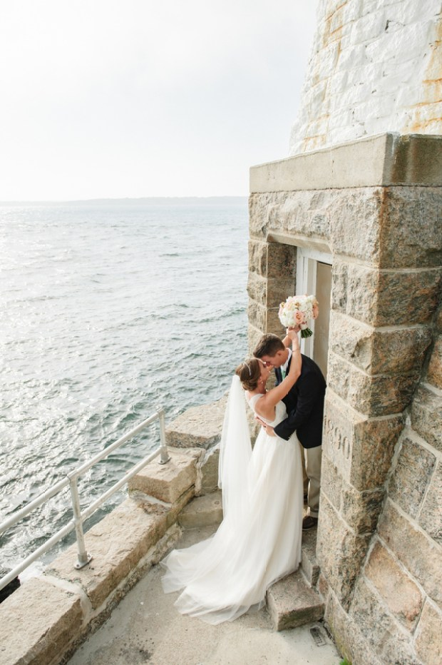 Maura and Doug's Sea Glass and Sea Horses Castle Hill Inn Wedding