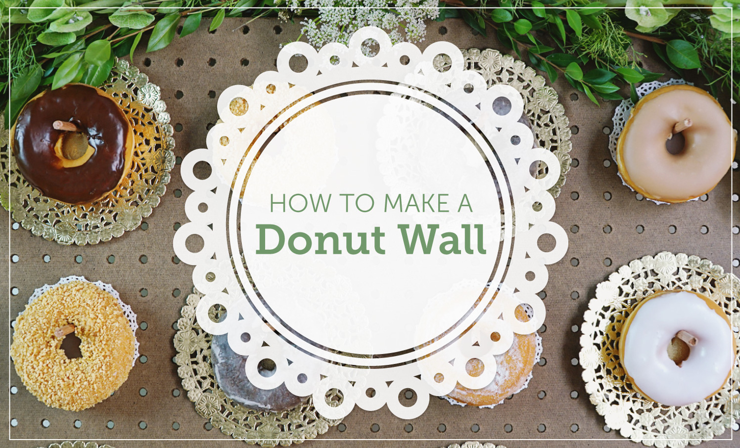 How to Make a Donut Wall