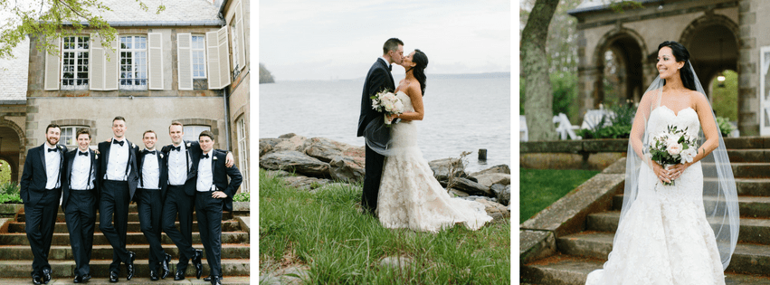 Caitlin and Steve's Blush and Gold Glen Manor House Wedding