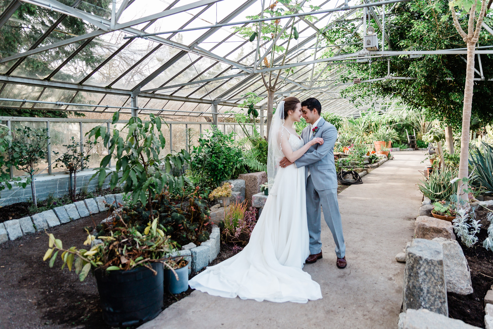 Kelly and Marvin's Tropical Wedding at the Providence Botanical Gardens