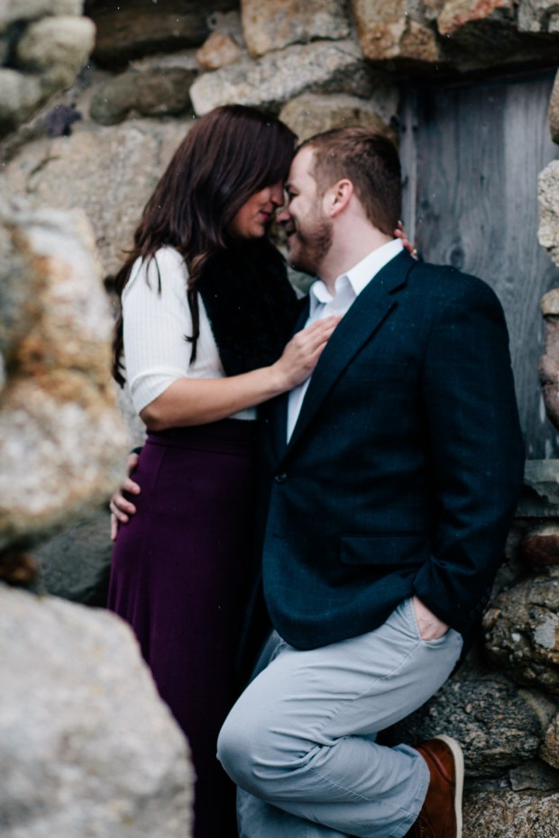 Justine + Brian's Winter Engagement Session at Blithewold Mansion and Gardens on The Newport Bride a Rhode Island Bridal Blog
