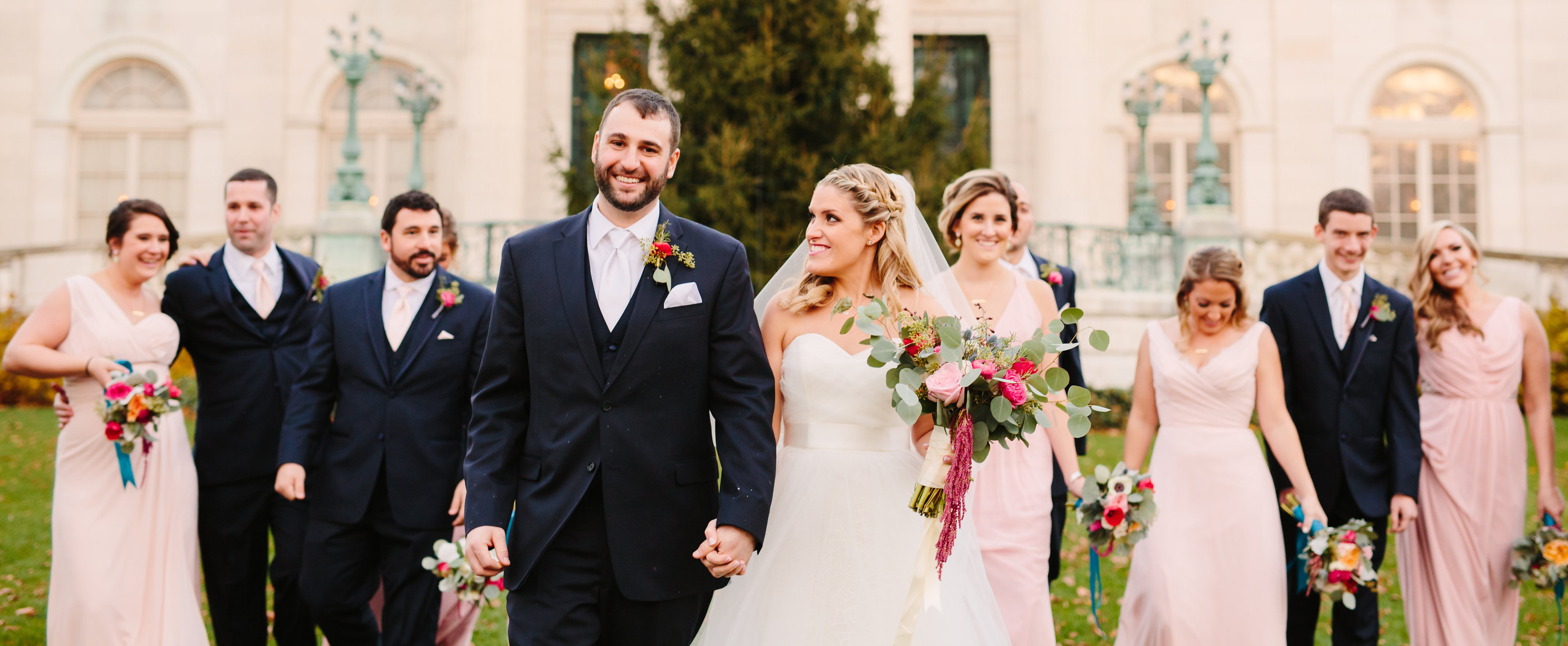 Amanda and Michael's Winter Blush and Teal Atlantic Resort Wedding