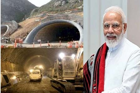Modi inaugurated the world's largest tunnel at 10,000 feet height in manali.