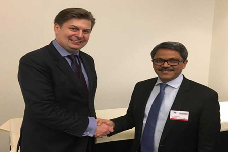 Shahriar Alam discusses human rights and trade issues with MEPs