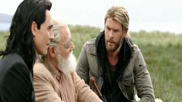 Thor Loki and Odin in Ragnarok