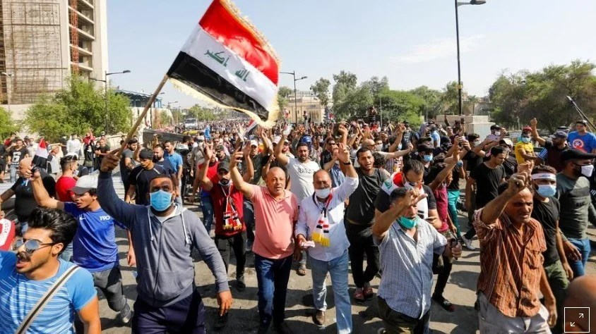 Two killed, 26 wounded as protests flare again in Iraq