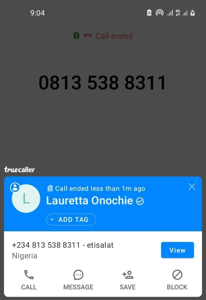Truecaller: Lauretta Onochie