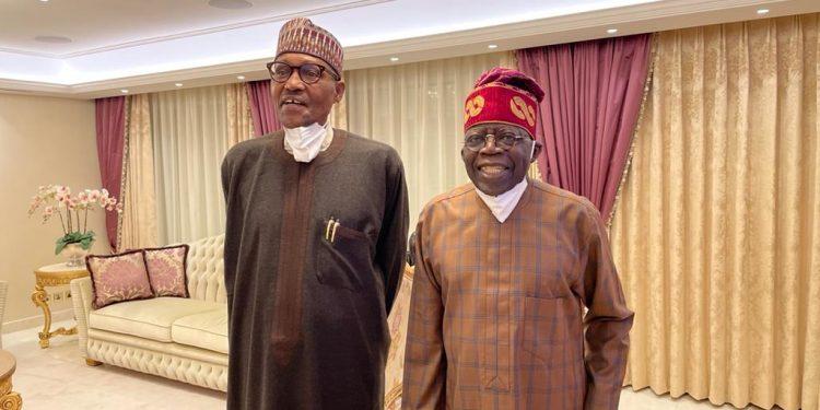 BREAKING: Buhari visits Tinubu in London [Photos]