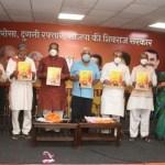 28 विस क्षेत्रो के लिए भाजपा ने जारी किया तीन साल का संकल्प पत्र
