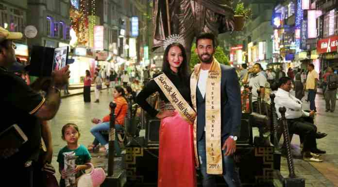 Sunsilk Mega Miss North East 2016, Meriya Subba and Fair & Lovely Men Mega Mister North East 2nd Runner-up Colin Jacob Rajan at Miss Sikkim Diva 2016
