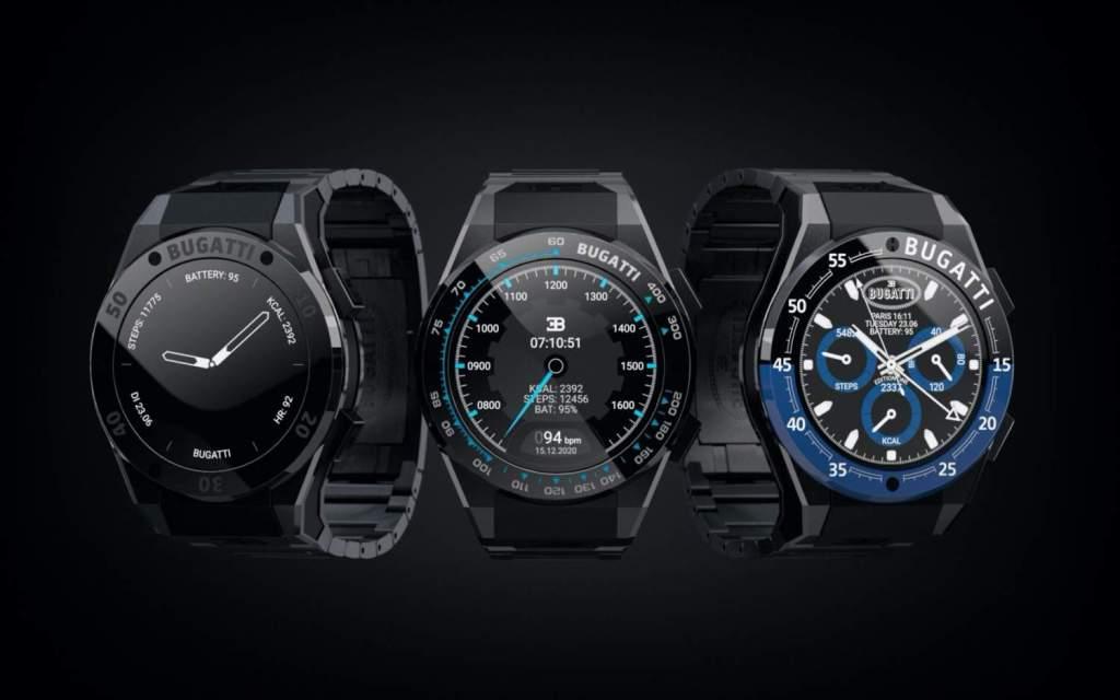 Bugatti introduces three premium smartwatch models