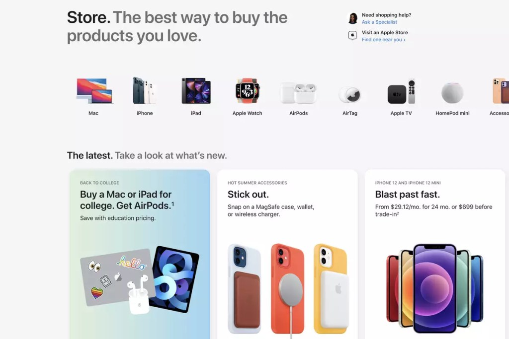 Apple launched a redesigned Apple Store