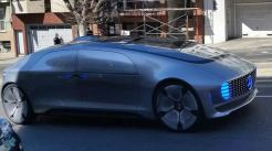 The Mercedes F015 self-driving car on the streets of San Francisco