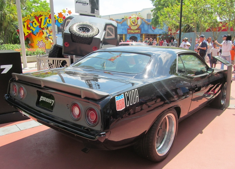 Hd Flat Black Muscle Car Wallpapers 3 Cars From Furious 7 On Display At Universal Studios