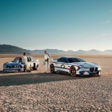 BMW 3.0 CSL Hommage R, the 1975 model, and two drivers