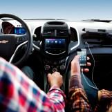 2016 Chevrolet Sonic interior occupied