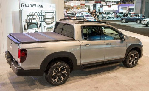 small resolution of 2017 honda ridgeline black edition genuine accessories on display in chicago the news wheel