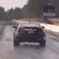 This Cadillac CTS-V coupe covered a quarter mile is less than 10 seconds