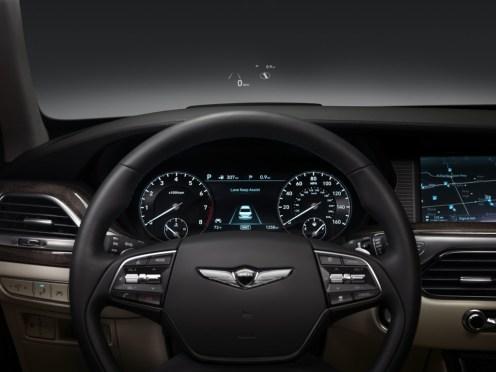 2017 Genesis G90 model overview interior dashboard controls