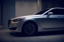 2017 Genesis G90 model overview silver car exterior