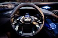 Lexus UX crossover concept 2016 Paris Auto Show steering wheel