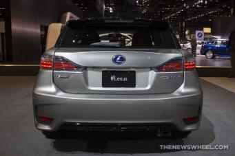 2016 Lexus CT 200h at Chicago Auto Show bumper