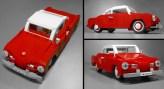 Volkswagen VW Karmann Ghia LEGO set classic car model Vibor Cavor red