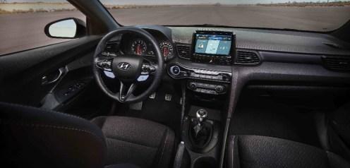 2019 Hyundai Veloster N performance division hatchback specs dashboard