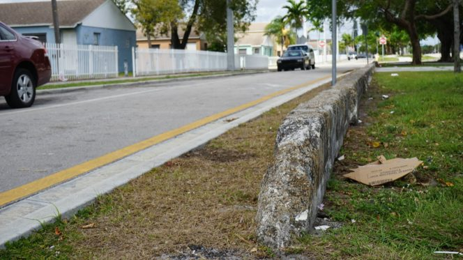 The race wall in Liberty City separating Liberty Square from the rest of the neighborhood. T. Willard Fair, president of the Greater Miami Urban League, a nonprofit that provides human services to Liberty City residents. It still stands today. (Credit: Roshan Nebhrajani/The New Tropic)