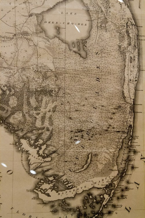 Military Map of the Peninsula of Florida, 1856