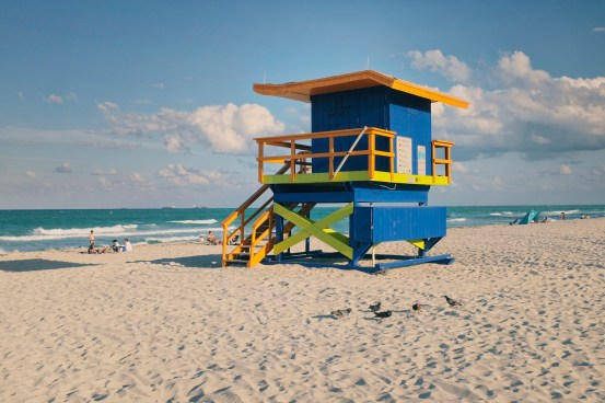 """35th Street: """"I like the roof here. It reminds me of the wing of an airplane, almost taking off. I took this one on Sunday, and as you get more north you have fewer people. It's a really peaceful part of the beach."""" (Sean R. Sullivan, seanwashere.com)"""