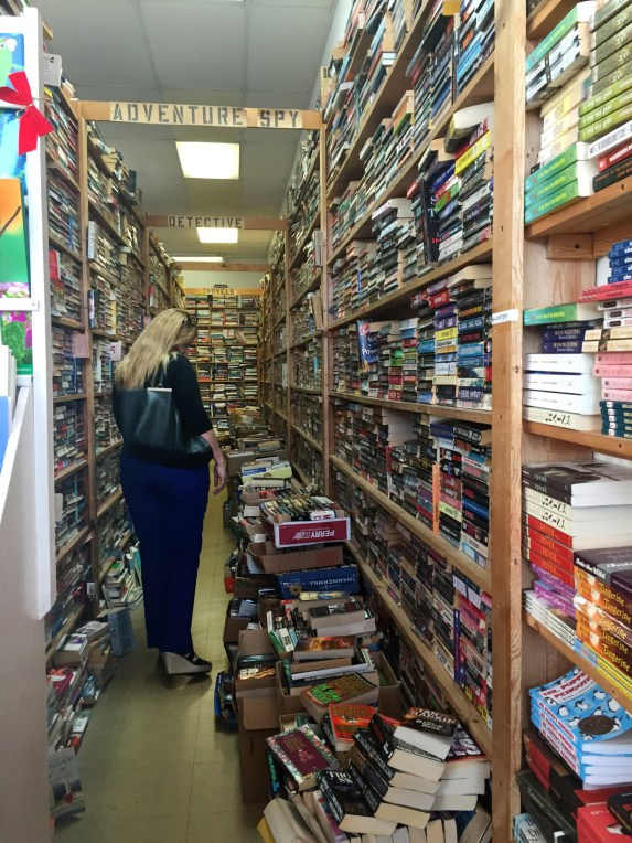 There are no cash registers or computers, and the books have little organization within each genre. (Ashley Martinez photo)