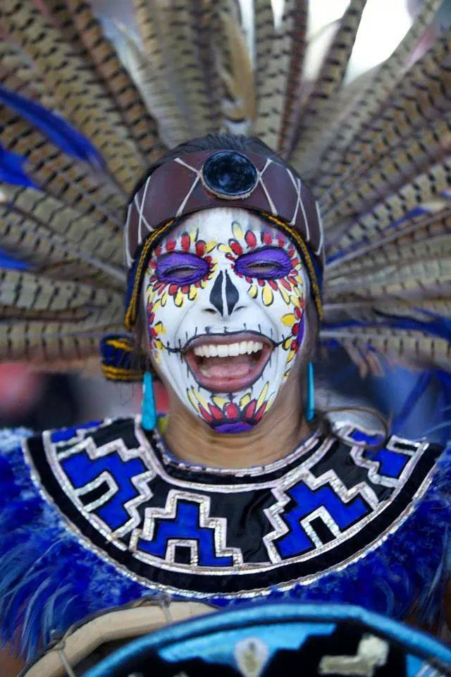 One attendee's incredible face paint. (Courtesy of South Florida Day of the Dead Celebration)
