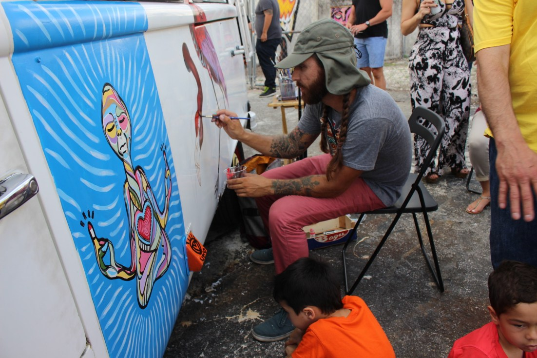 Van painting at the Leah Arts District street fair. (Courtesy of JLPR)