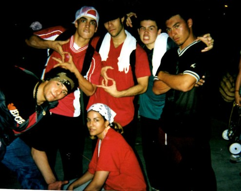 Flipside Kings at the B-boy Masters Pro-Am in 2000. (Courtesy of Rudi Goblen)