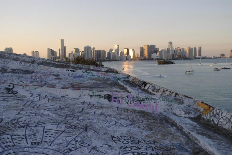 """A graffitied abandoned building in Miami is called a """"penit"""" short for penitentiary."""
