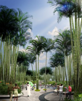 A rendering of a palm garden in Museum Park. (Courtesy of Cooper Robertson/Civitas)