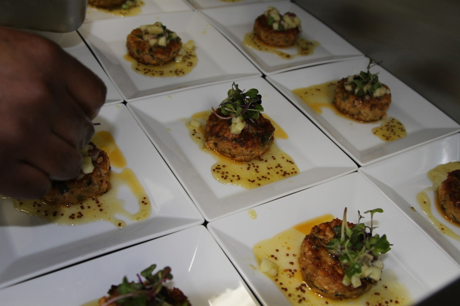 Salmon cakes from Art & Craft.