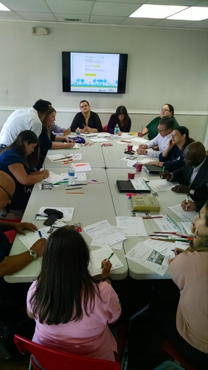 Brainstorming session at Urban Impact Lab. (Courtesy of Urban Impact Lab)