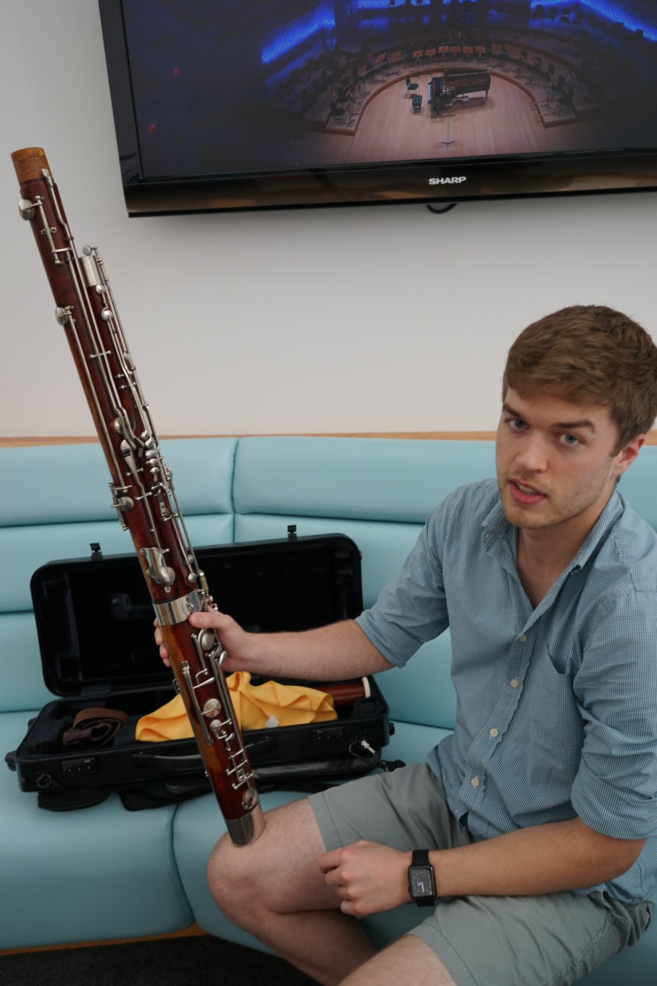 The full bassoon, minus the bocal, the mouthpiece.