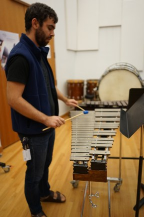 I had to learn how to play a few new instruments over the years. This is a glockenspiel.