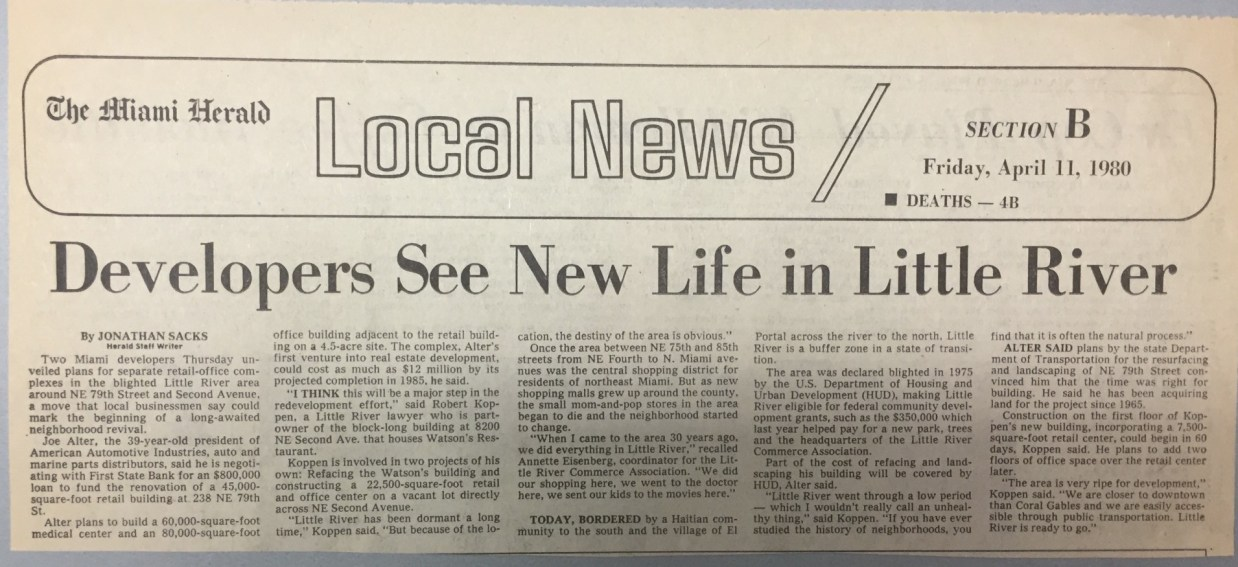 News clippings from The Miami Herald in 1980. (Courtesy of HistoryMiami Museum)