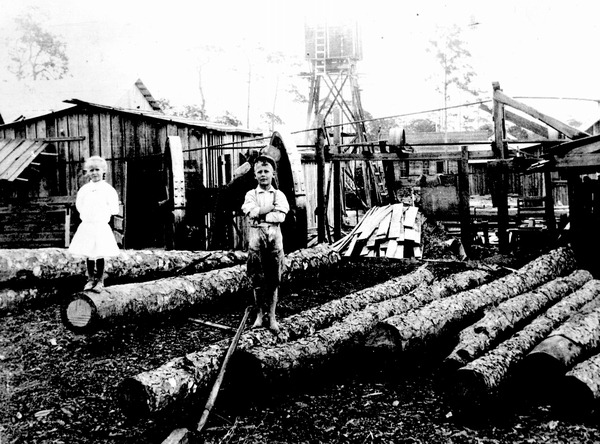 Sawmill operated by A.B. Hurst in Lemon City. (Courtesy of State Archives of Florida, Florida Memory)