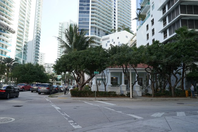The Dade Heritage Trust office is surrounded by condos.