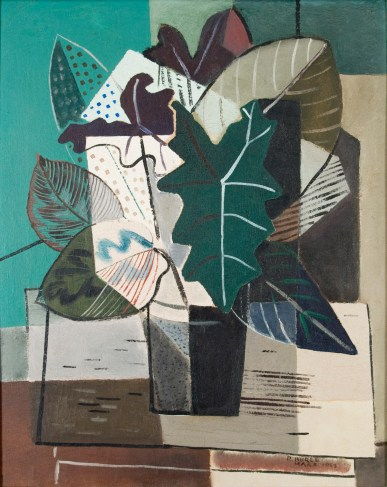 Still Life with Philodendron I, created in 1943 by Roberto Burle Marx. (Courtesy of Paula and Jones Bergamin Collection)