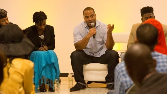 A speaker at last year's Black Tech Week. (Courtesy of Black Tech Week)
