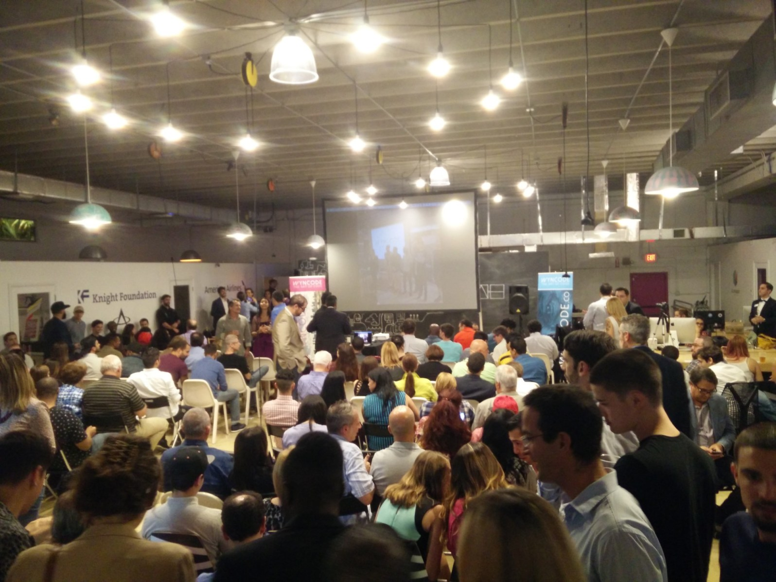 A full house for Pitch Day at Wyncode. (Courtesy of Michael Fernandez)