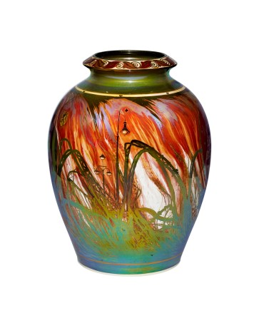 A vase created in 1910, (Courtesy of Gordon Mitchell Forsyth (British, 1879–1952), designer and decorator Pilkington's Tile & Pottery )
