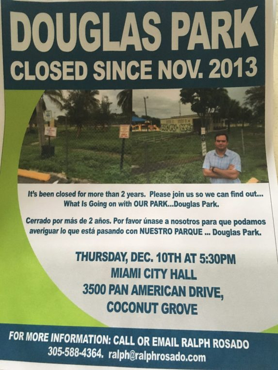 A flyer announcing the park's closure. (Courtesy of Ralph Rosado)